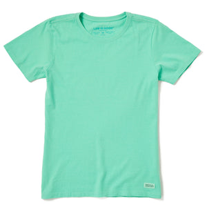 Life is Good Women's Solid Crusher Tee, Spearmint Green
