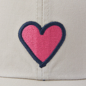 Life is Good Heart Vintage Chill Cap, Bone - One Size