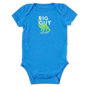 Life is Good Baby Big Guy Crusher Bodysuit, Royal Blue