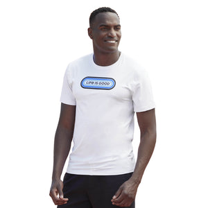 Life is Good Men's LIG Pill Active Tee, Cloud White