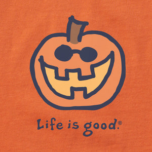 Life is Good Kids Jake O Lantern Vintage Crusher Tee, Deep Orange
