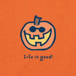 Life is Good Women's Jake O Lantern Vintage Crusher Tee, Deep Orange