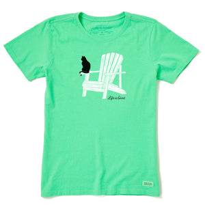 Life is Good Women's Catirondack Crusher Tee, Spearmint Green