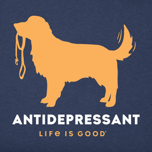 Life is Good Men's Canine Antidepressant Crusher Tee
