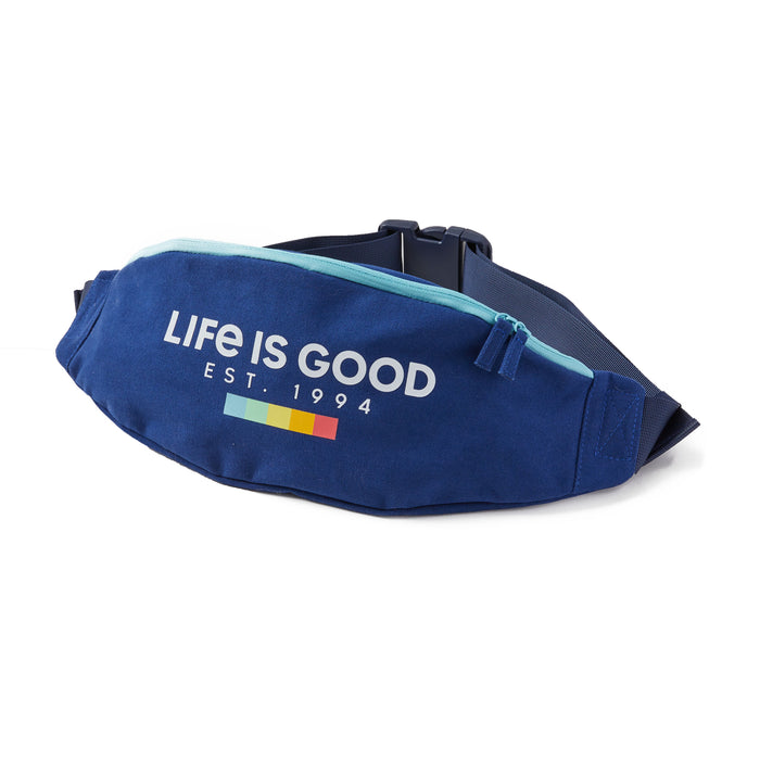 Life is Good LIG Spectrum Boxes Anywhere Belt Bag, Darkest Blue - One Size
