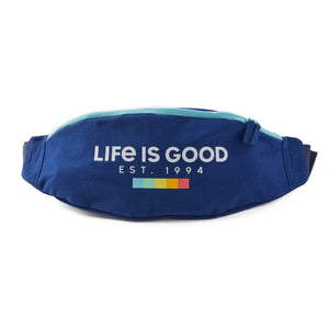 Life is Good. Anywhere Belt Bag LIG Spectrum Boxes, Darkest Blue