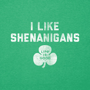 Life is Good Men's Cool Tee I Like Shenanigans, Notre Dame Green