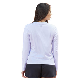 Life is Good Women's Beach Elements Long Sleeve Active Tee, Cloud White
