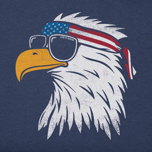 Life is Good Men's Crusher Tee Patriotic Eagle, Darkest Blue