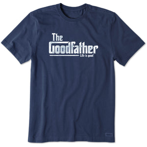 Life Is Good. Mens Crusher Tee Goodfather, Darkest Blue