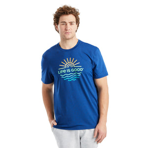 Life is Good. Men's Active Tee Sun & Sea, Royal Blue