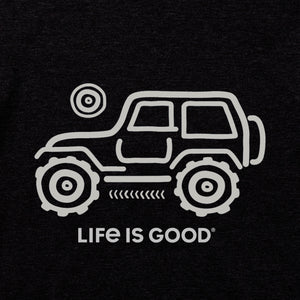 Life is Good. mens crusher tee Native Off Road, Jet Black