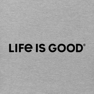 Life Is Good. Women's Crusher Tee LIG Wordmark Horizontal, Heather Gray
