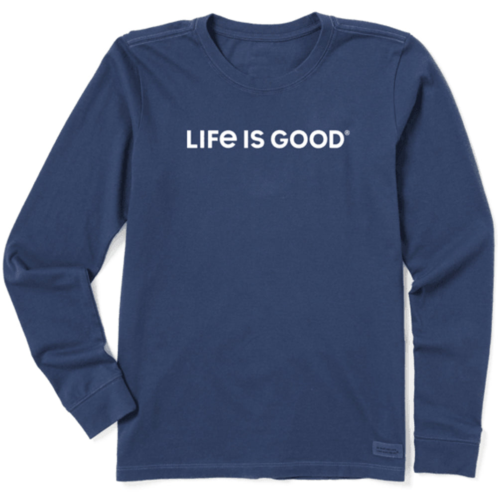 Life is Good Mens Hooded Crusher Longsleeve Lig Stacked
