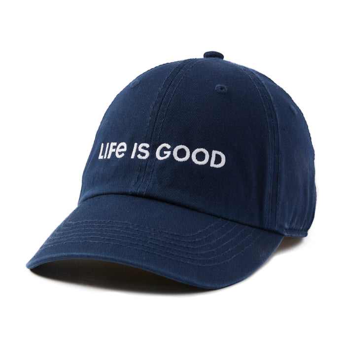 Life is Good. Chill Cap LIG Wordmark Horizontal - Darkest Blue