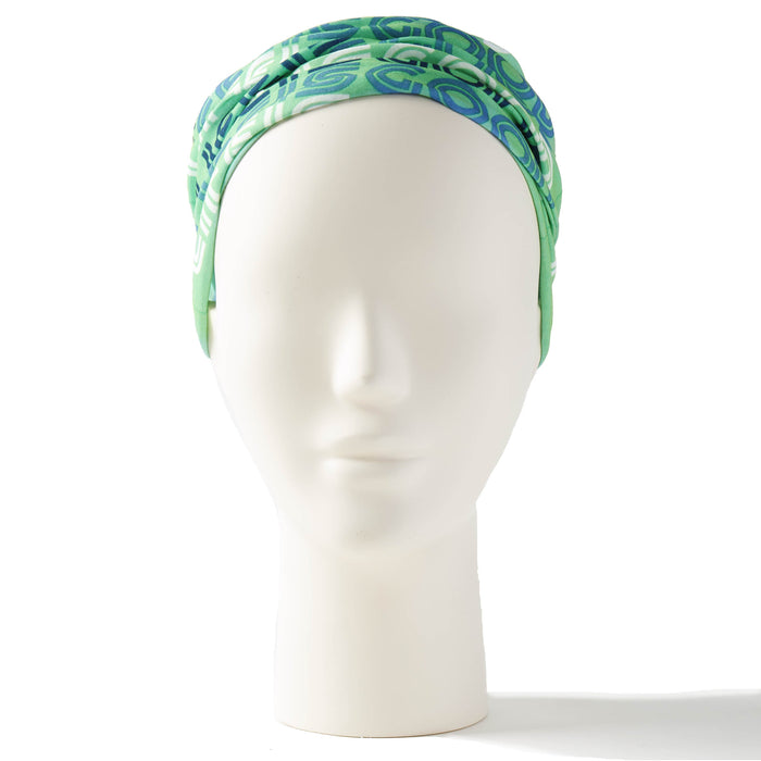 Life Is Good Headband Gaiter Retro LIG Stack - Spearmint Green, One Size