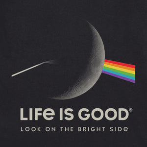 Life is Good Men's Crusher Tee Bright Side of the Moon, Jet Black