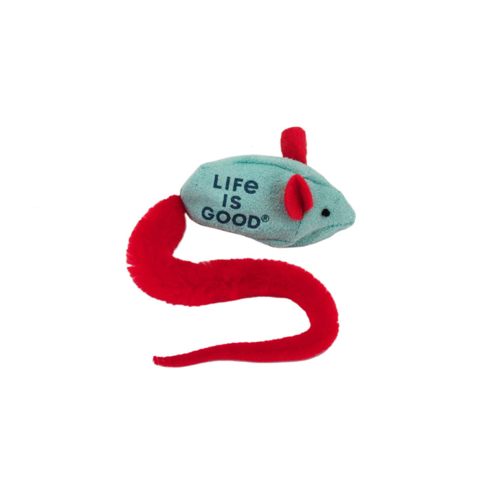 Life is Good. Catnip Cat Toy, Mouse