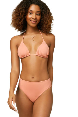 O'NEILL WOMEN'S TRIANGLE BACK TIE BIKINI SWIMSUIT TOP - CANYON CLAY