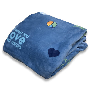 Life Is Good. Do What You Love Plush Throw Blanket