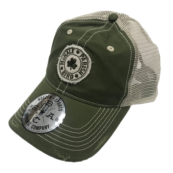 Boston Sports Apparel Trucker Hat: McHale, Parish, Bird - Green