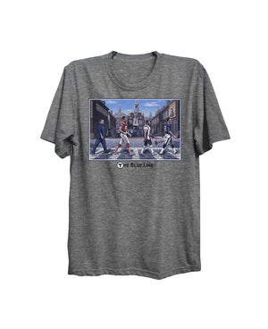 Boston Sports Group. New England Blue Line Novelty Tee Heather Gray