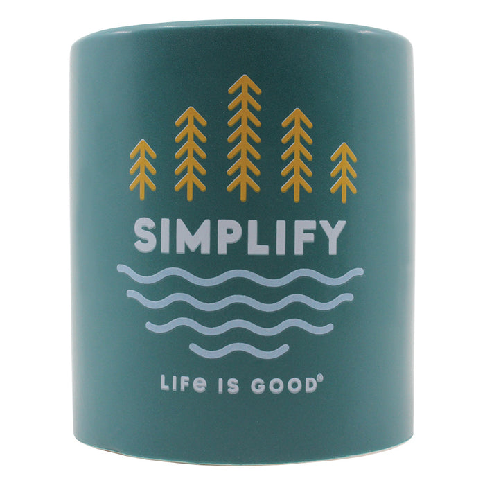 Life Is Good. Simplify Trees 12oz. Soy Candle