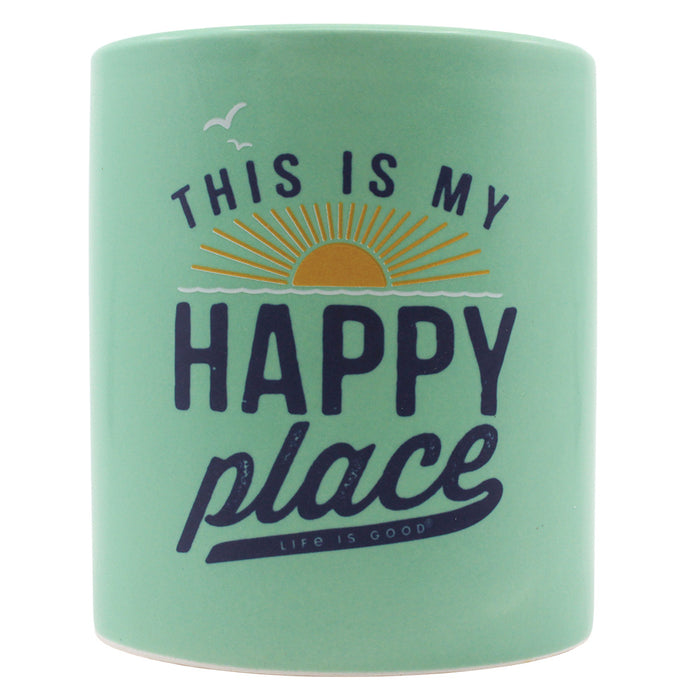 Life Is Good. This Is My Happy Place 12oz. Soy Candle