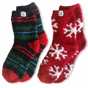 Life is Good 2-Pack Holiday Snowflake Stripe Snuggle, Multi-color - One Size