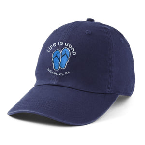 Life is Good Newport, RI Flip Flops Chill Cap, Darkest Blue