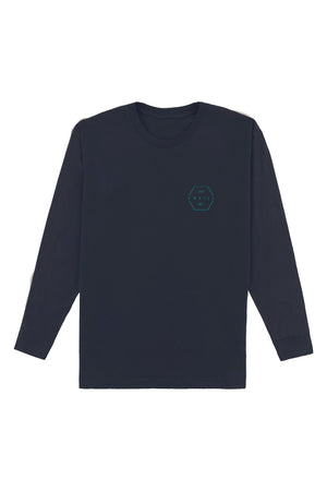 O'NEILL MENS PHIL LONG SLEEVE TEE, NEW NAVY