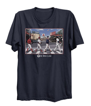 Boston Sports Group. Red Line Tee - Navy Blue