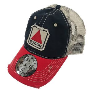 Boston Sports Apparel Trucker Hat: Boston Citgo - Navy/Red