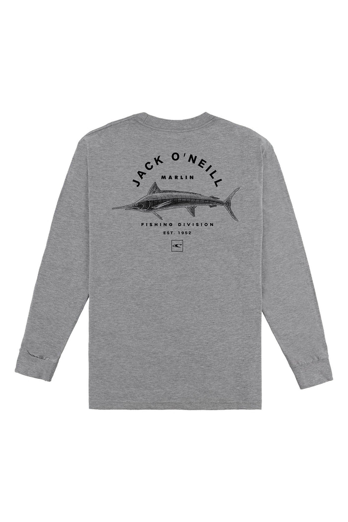 JACK O'NEILL BOCA LONG SLEEVE TEE, HEATHER GREY,
