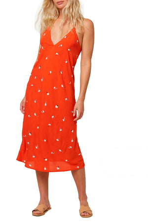O'NEILL WOMENS IZZY DRESS, RED CLAY,