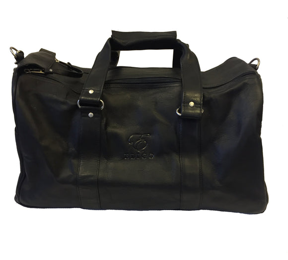 Black Leather Duffle