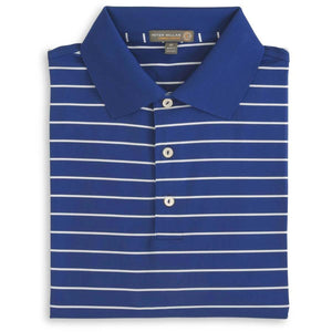 Peter Millar Campus Stripe Stretch Jersey Polo (Various Colors)