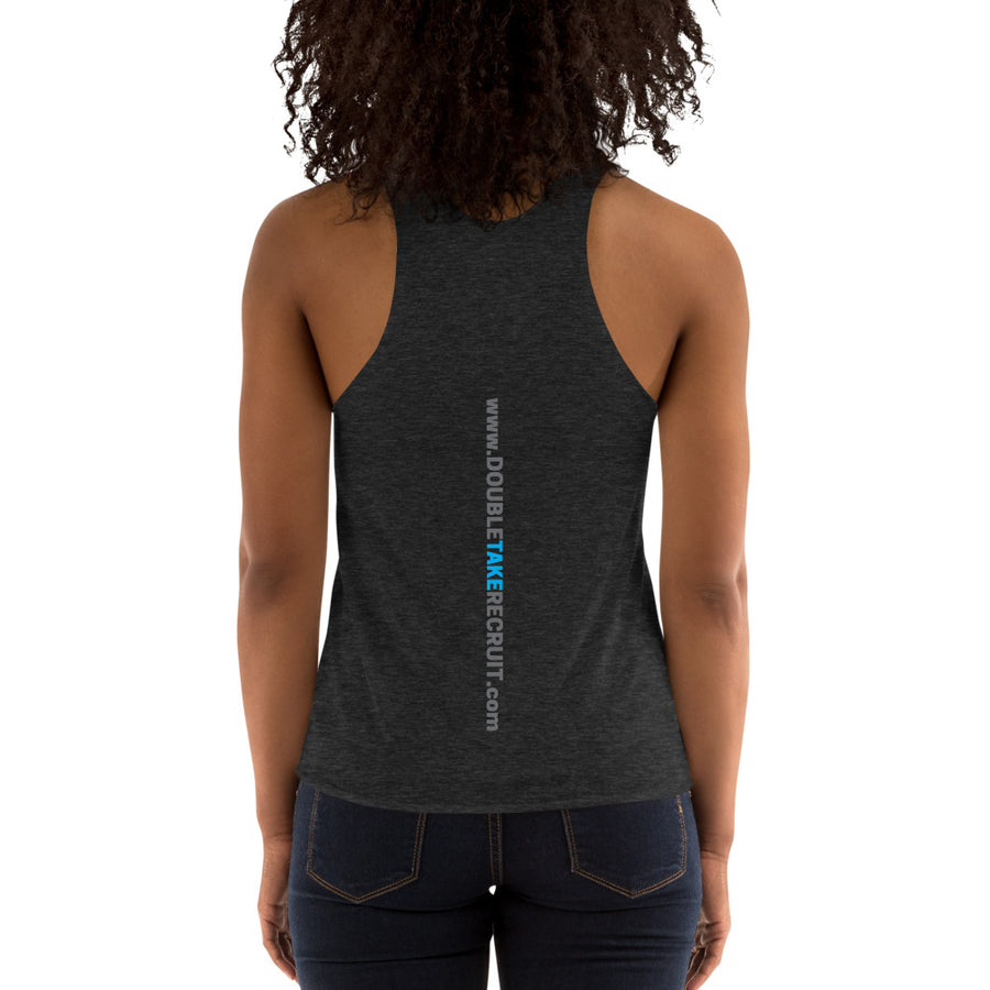 Double Take Women's Tri-Blend Tank with Spine Logo - Double Take Recruitment Videos
