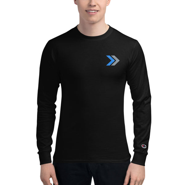 Men's Champion Embroidered Long Sleeve Shirt - Double Take Recruitment Videos