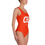 CEO Red One-Piece Swimsuit