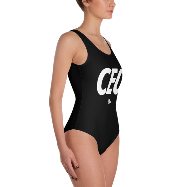 CEO Black One-Piece Swimsuit
