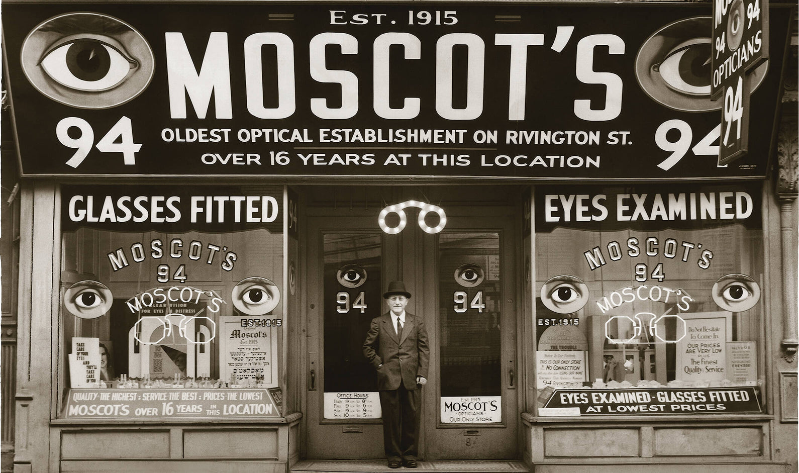 Photo of man outside Moscot store