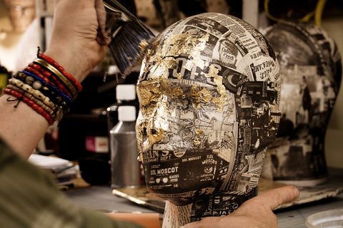 c2c46b8e89 ... the same approach was used on our beloved MOSCOT Mannequin Heads.  Thanks to the strategic decision to decoupage the limited number using  black-and-white ...