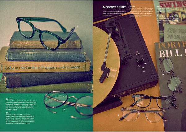 Magazine B features MOSCOT