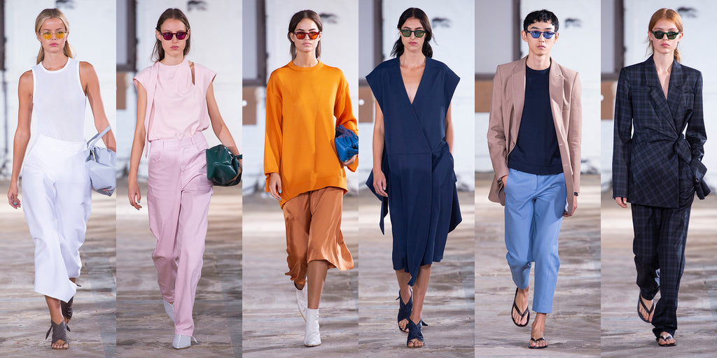 35914d6d3d9 New York-based womenswear designer Tibi featured MOSCOT frames on their Spring  2019 runway during NYFW. Looks were complimented with The LEMTOSH in  vibrant ...
