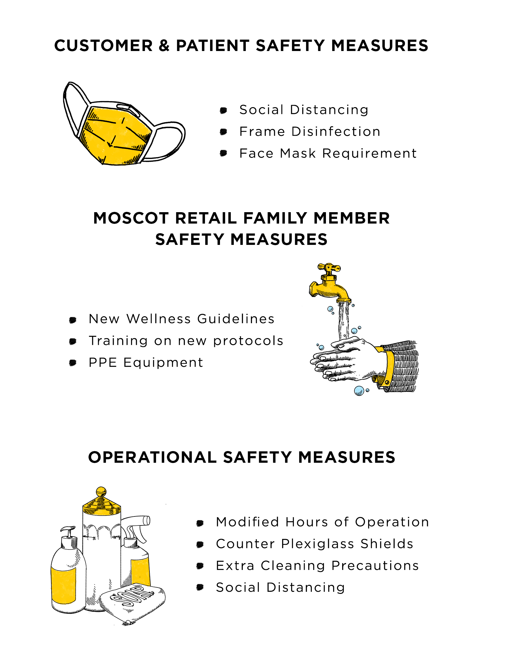 Shop Safety Measures Graphic