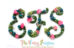 Floral Nursery Ideas, Floral Wall Decor and Floral Wall Monograms