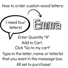 How To Order Painted Letters