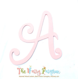 Pink Monogram Nursery Room Wall Letters - Pink Kids Room Painted Wood Letters