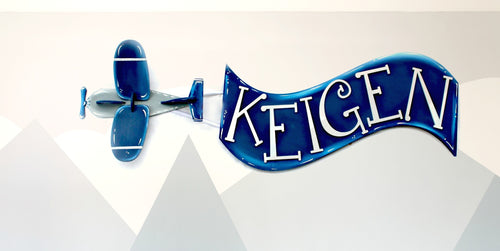 Airplane Kids Room Decoration Personalized Baby Name Wall Hanging